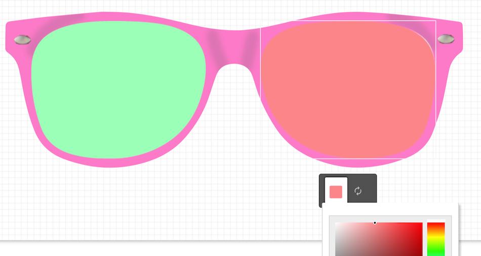 Changer couleur lunettes